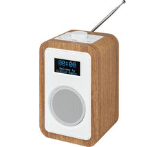 JVC RA-D51 DAB/FM Clock Radio - Wood & White