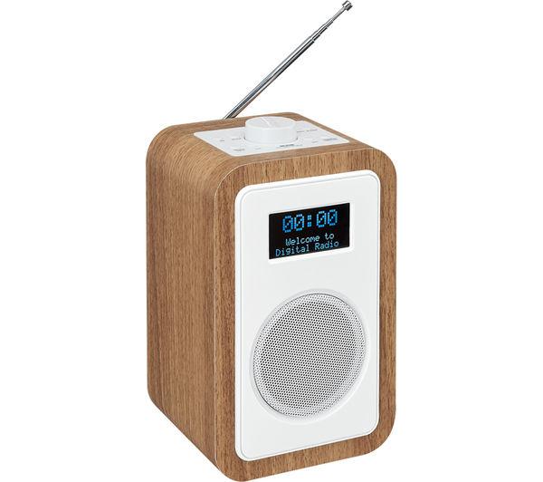 Buy Jvc Ra D51 Dab Fm Clock Radio Wood Amp White Free