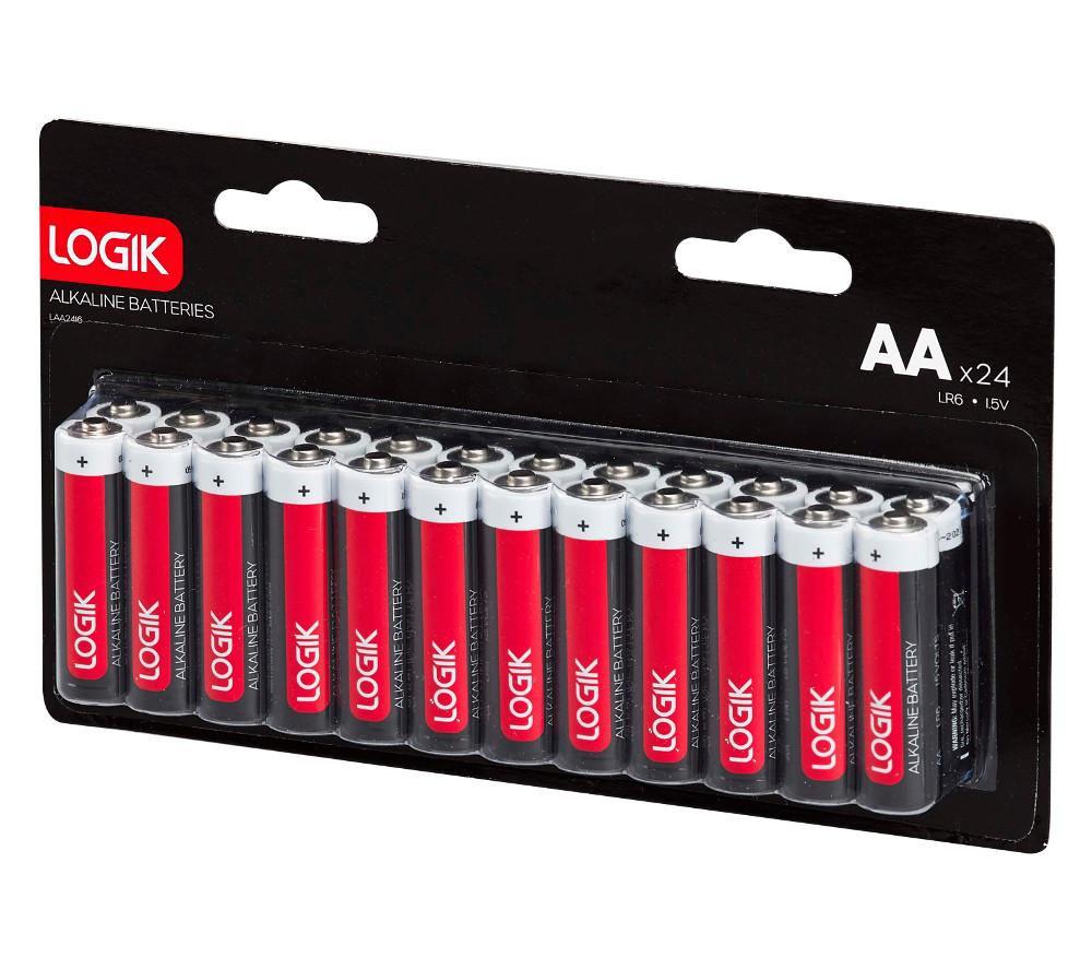 LOGIK LAA2416 AA Alkaline Batteries - Pack of 24