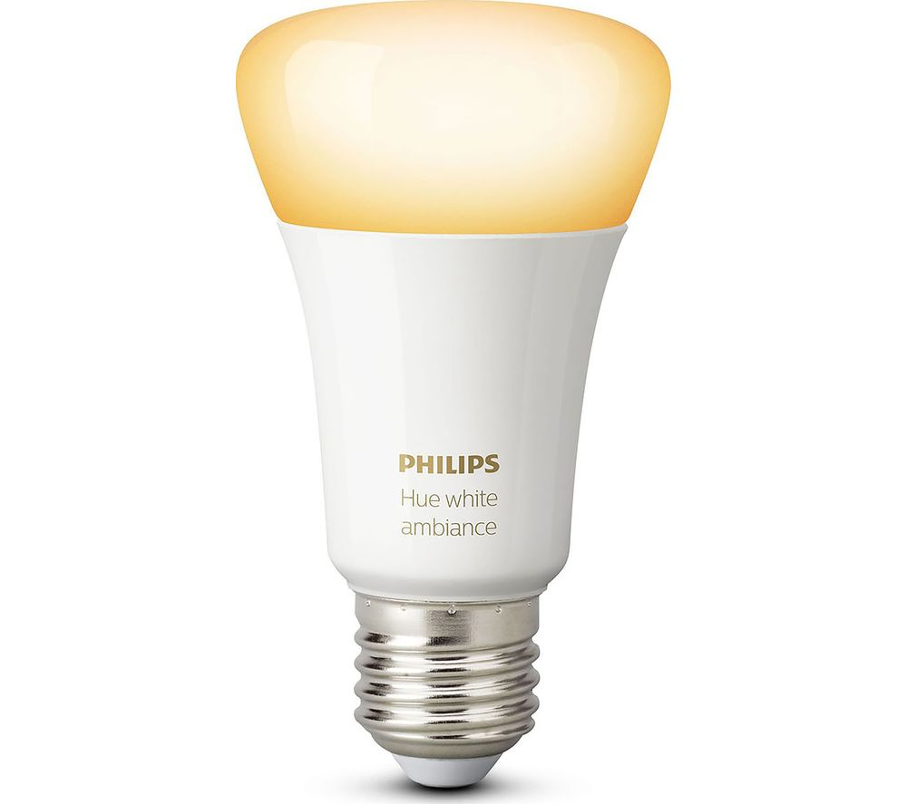 buy philips hue white ambience smart led bulb e27 free delivery currys. Black Bedroom Furniture Sets. Home Design Ideas