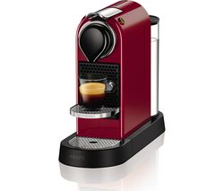 NESPRESSO by Krups CitiZ Coffee Machine - Red