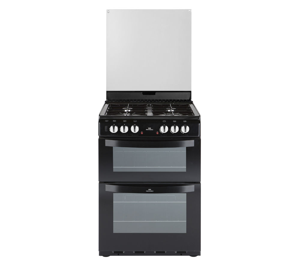 NEW WORLD 601DFDOL 60 cm Dual Fuel Cooker - Black