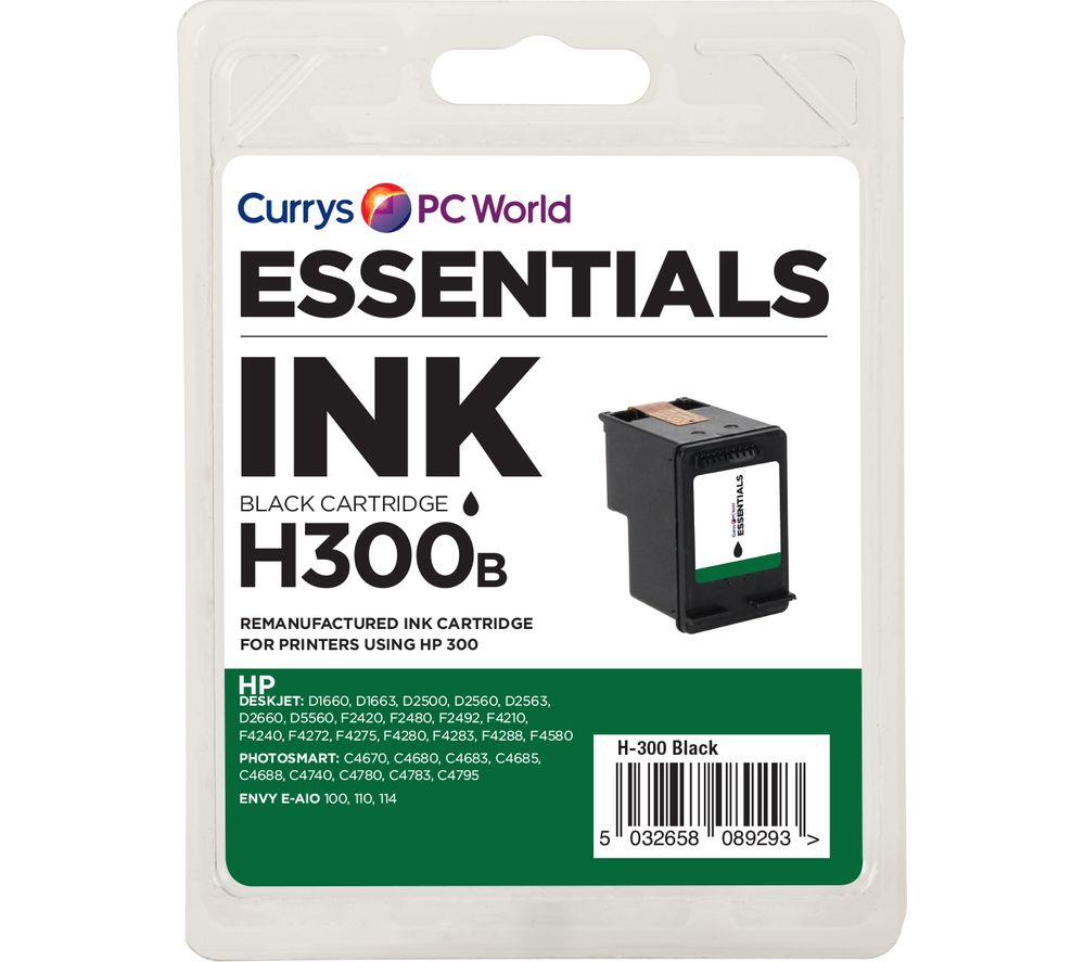 ESSENTIALS 300 Black HP Ink Cartridge
