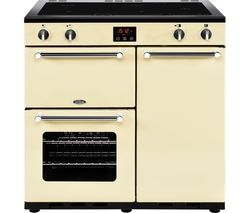 BELLING Kensington 90 cm Electric Induction Range Cooker - Cream & Chrome Best Price, Cheapest Prices