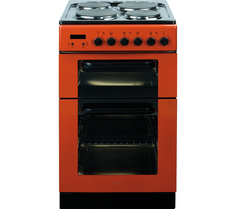 Image of BAUMATIC BCE520R Electric Solid Plate Cooker - Red, Red