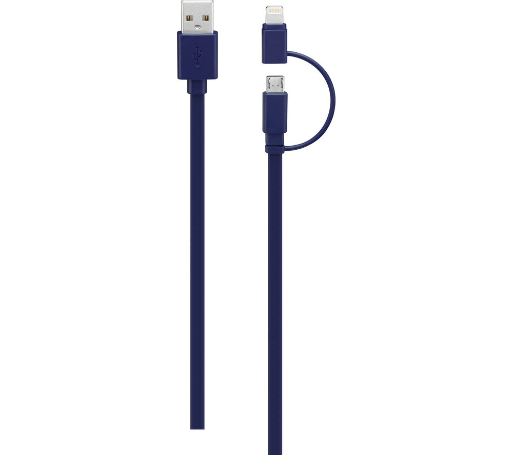 IWANTIT USB to Micro USB Cable with Lightning Adapter - 2 m