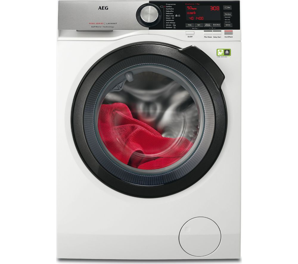 AEG Softwater 9000 L9FSC969R 9 kg 1600 Spin Washing Machine - White