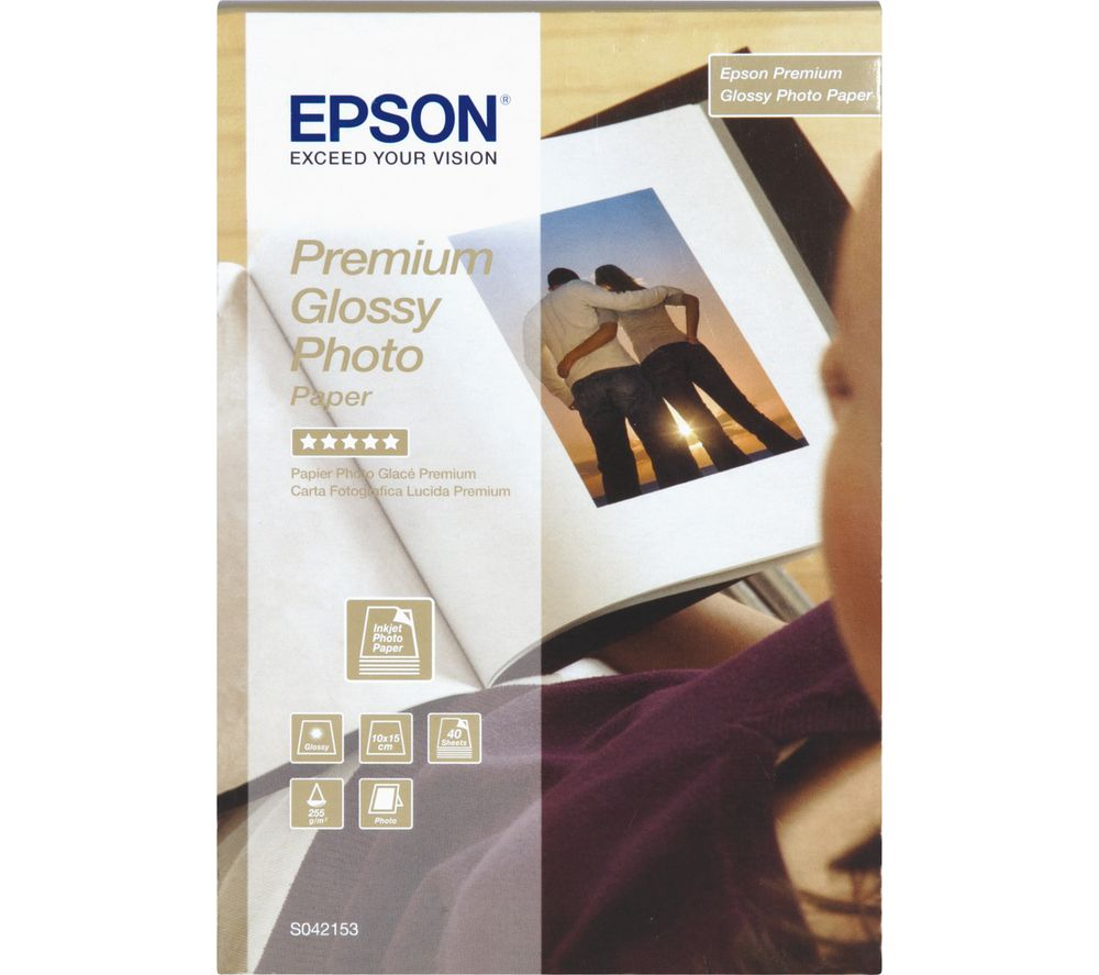 Image of EPSON 100 x 150 mm Photo Paper - 40 Sheets