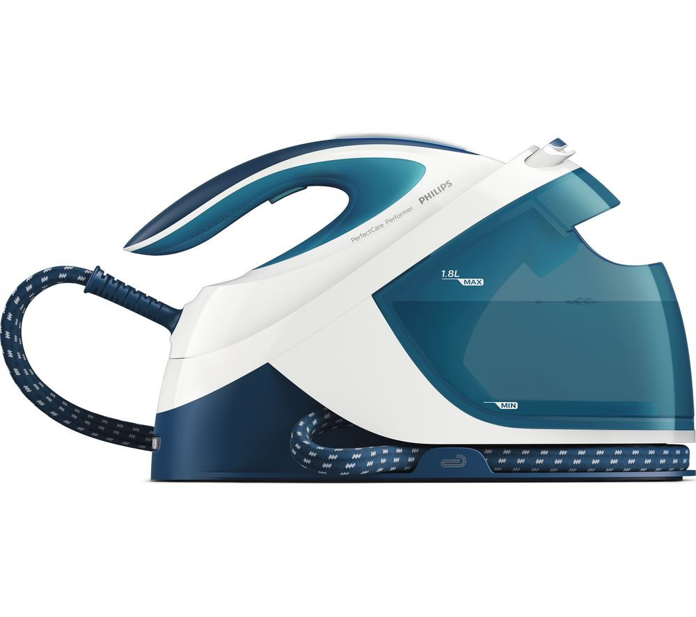 buy philips perfectcare performer gc8715 20 steam generator iron teal white free delivery. Black Bedroom Furniture Sets. Home Design Ideas