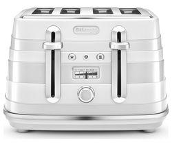DELONGHI Avvolta CTA4003W 4-Slice Toaster - White
