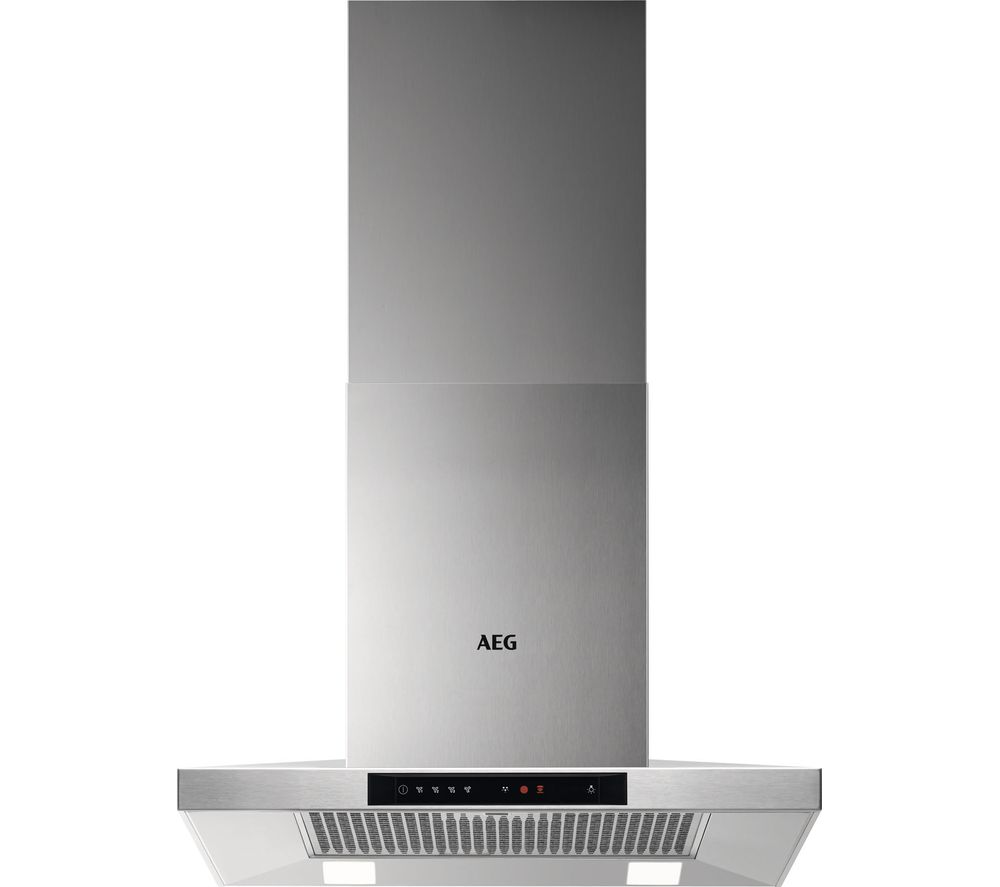Image of AEG DKB5660HM Chimney Cooker Hood - Stainless Steel, Stainless Steel