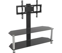 AVF SDCL1140 1140 mm TV Stand with Bracket - Black & Chrome