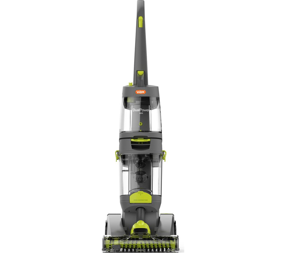 VAX Dual Power Max ECB1TNV1 Upright Carpet Cleaner - Grey & Green