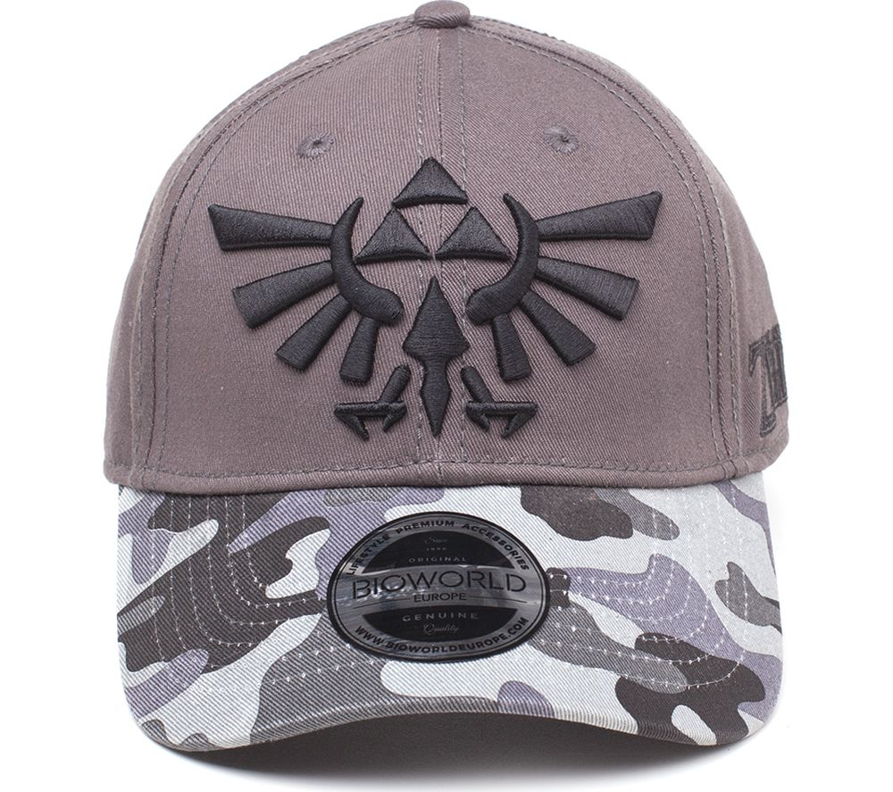 NINTENDO Zelda Tri-Force Logo Curved Bill Cap - Grey Camouflage