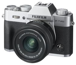 X-T20 Mirrorless Camera with FUJINON XC 15-45 mm f/3.5-5.6 OIS PZ Lens - Silver
