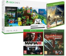 MICROSOFT Xbox One S, Minecraft, Killer Instinct Combo Breaker Pack, Mafia III Deluxe Edition & Assassin's Creed Origins Bundle
