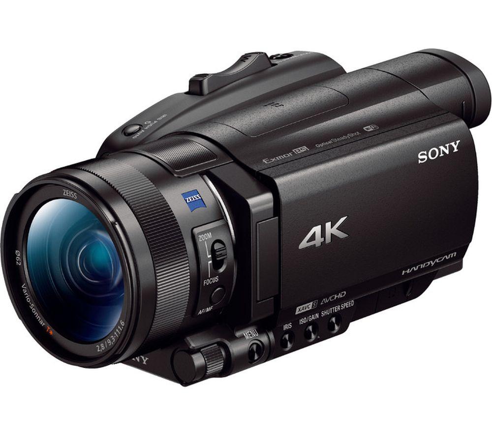 SONY FDR-AX100EB 4K Ultra HD Camcorder – Black, Black