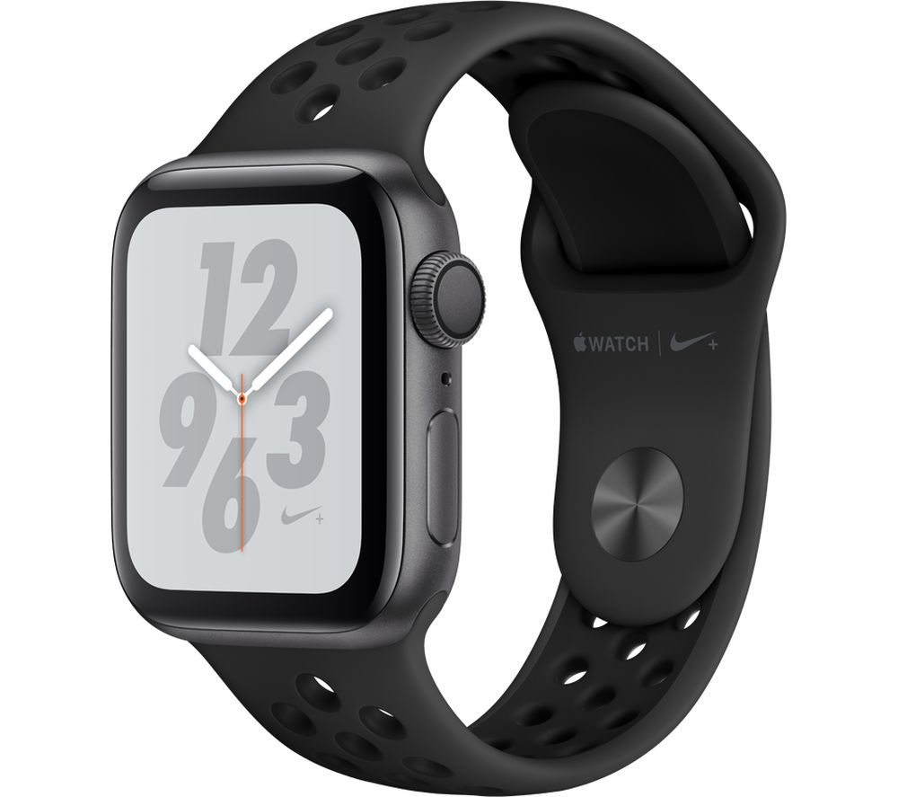 Buy APPLE Watch Nike+ Series 4 - Space Grey & Black Sports