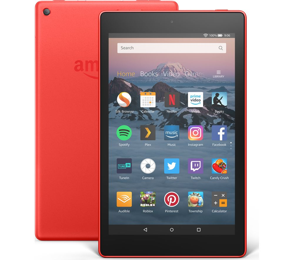 AMAZON Fire HD 8 Tablet (2018) - 16 GB, Red