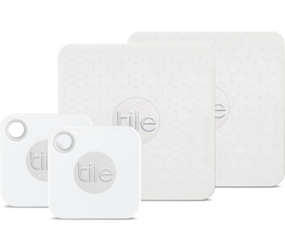 TILE Mate & Slim Bluetooth Tracker - Pack of 4
