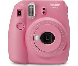 INSTAX mini 9 Instant Camera with Pink Lemonade Film - Blush Rose