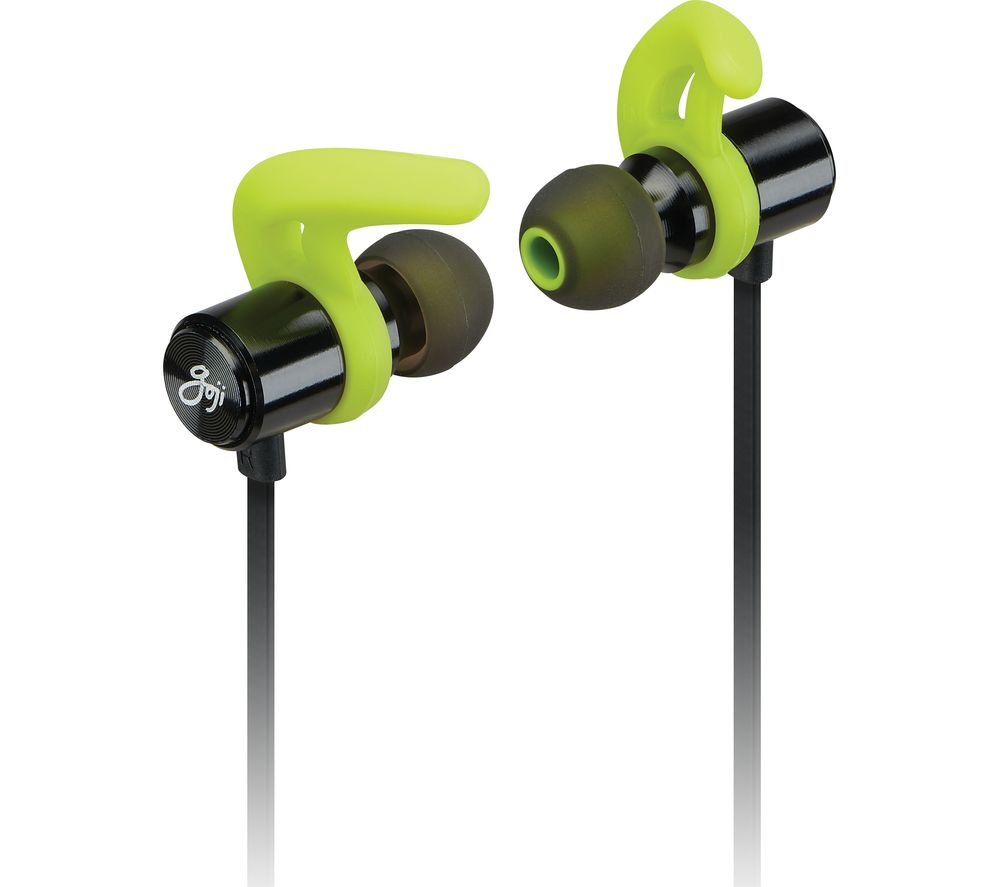 54f54a86da3 Buy GOJI GSFINBT19 Wireless Bluetooth Sports Earphones - Black & Green |  Free Delivery | Currys
