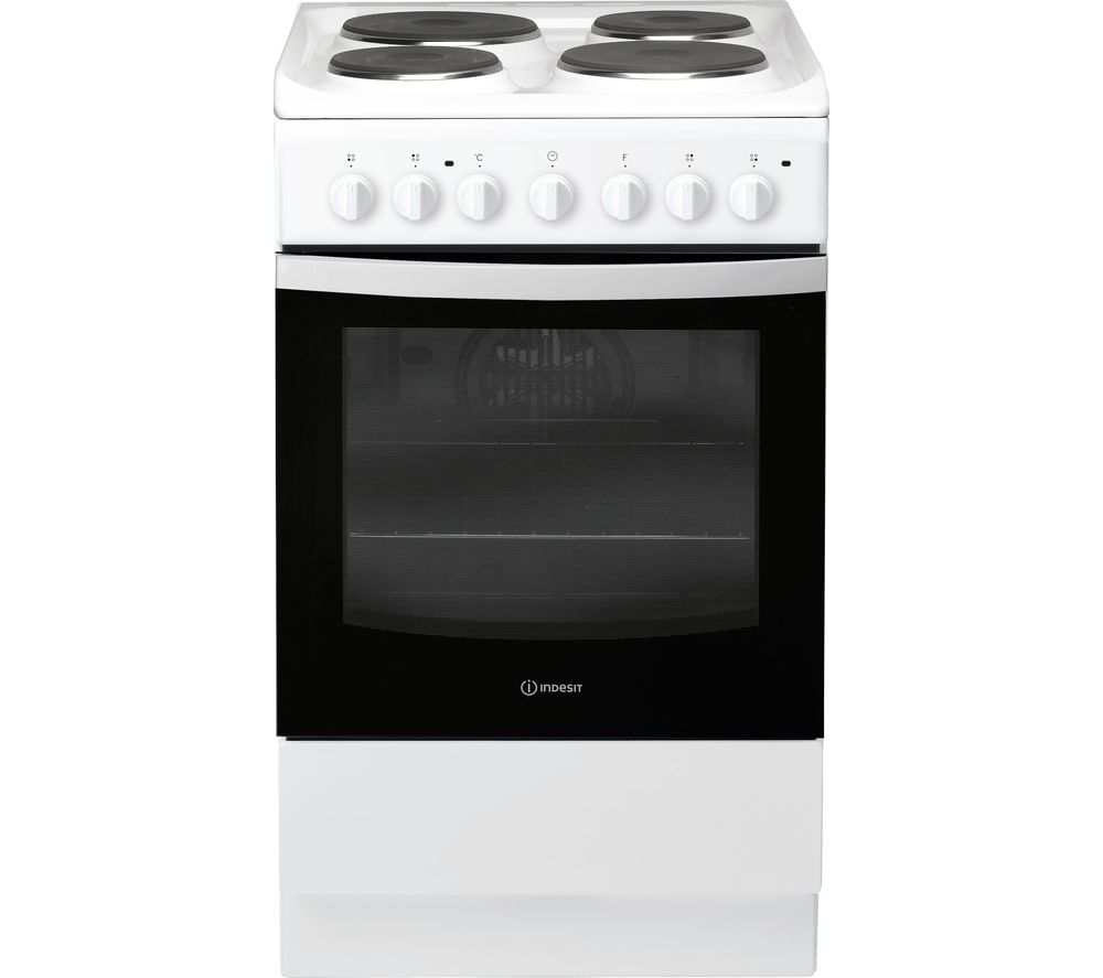 INDESIT IS5E4KHW 50 cm Electric Solid Plate Cooker - White