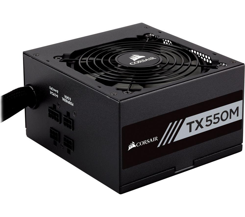 TX550M Semi-Modular ATX PSU - 550 W
