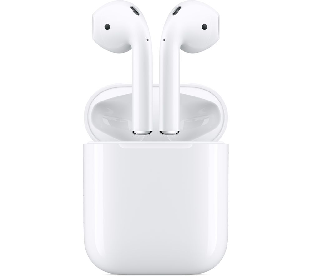 Image of AirPods with Charging Case (2nd generation) - White, White