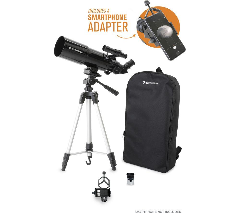 CELESTRON Travelscope 80 22030-CGL Refractor Telescope - Black