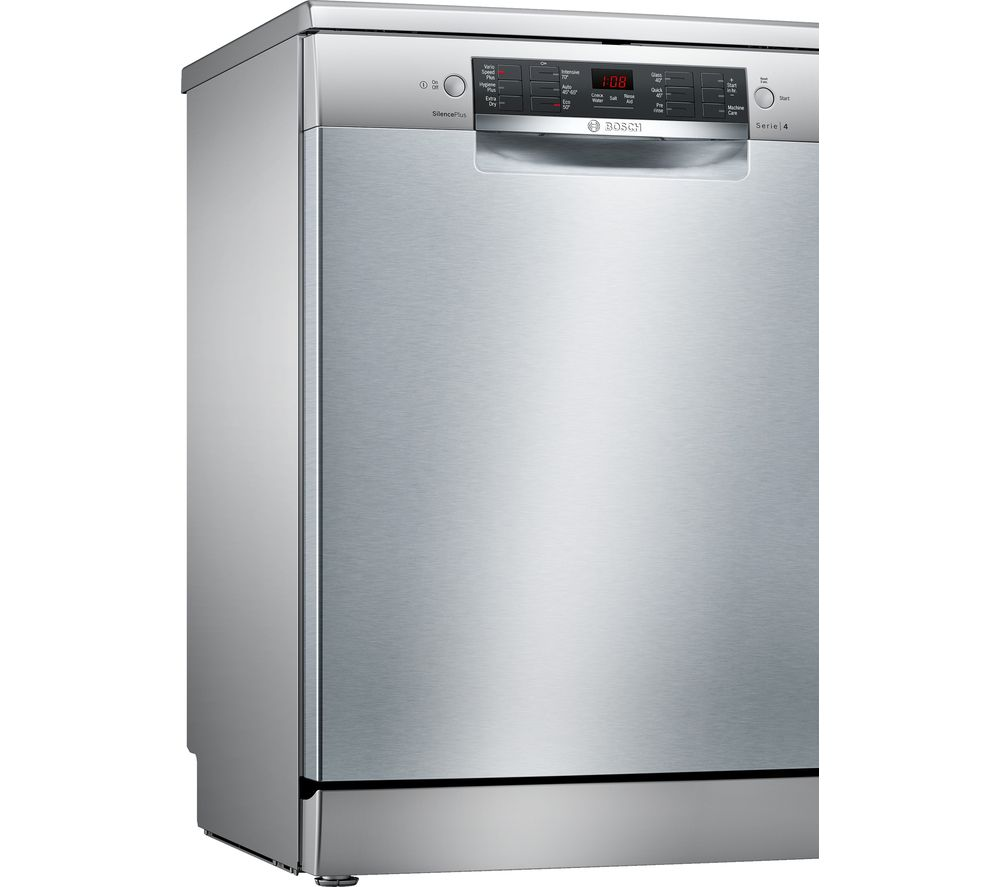 Image of BOSCH Serie 4 SMS46II01G Full-size Dishwasher - Steel