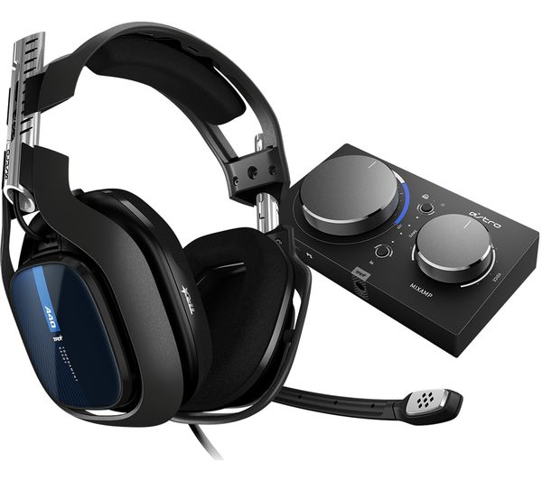 Image of ASTRO A40TR Gaming Headset & MixAmp Pro - Black, PS4