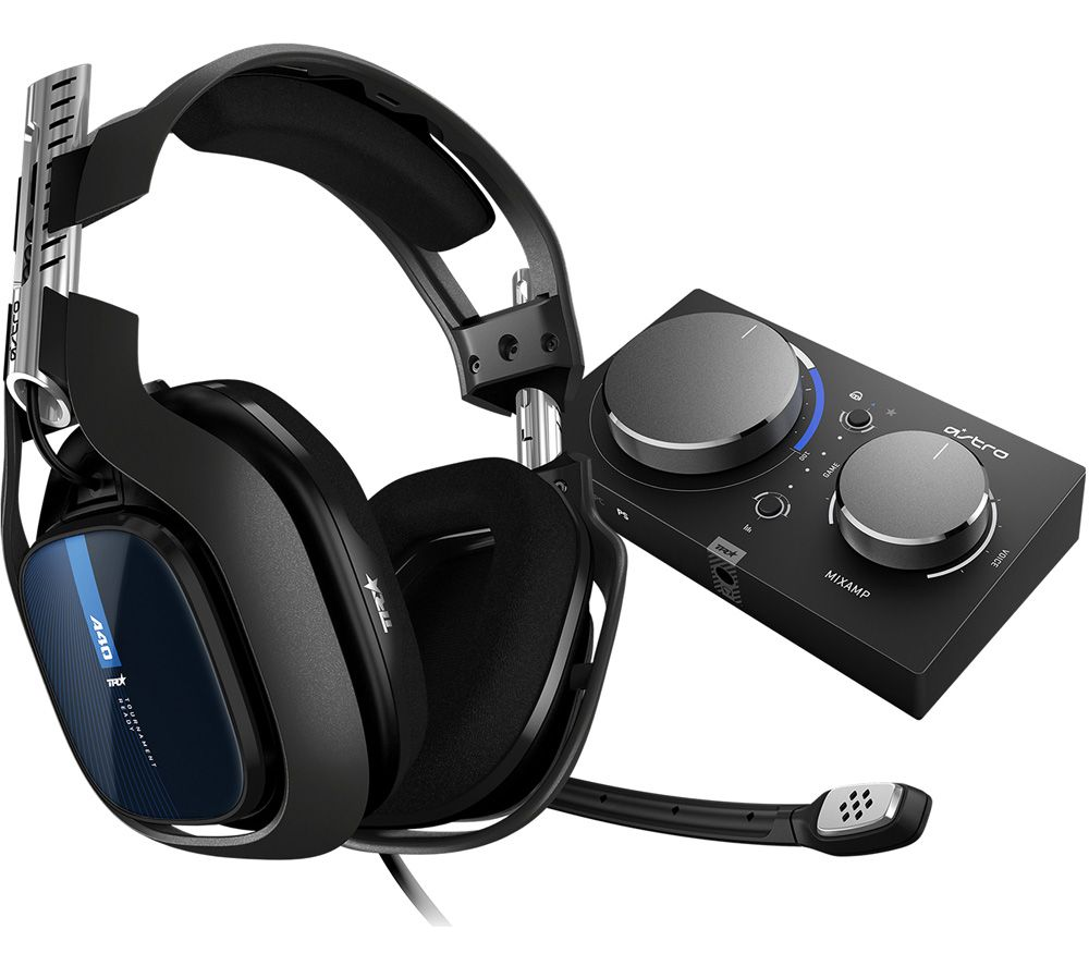 Image of ASTRO A40TR Gaming Headset & MixAmp Pro - Black, PS4, Black
