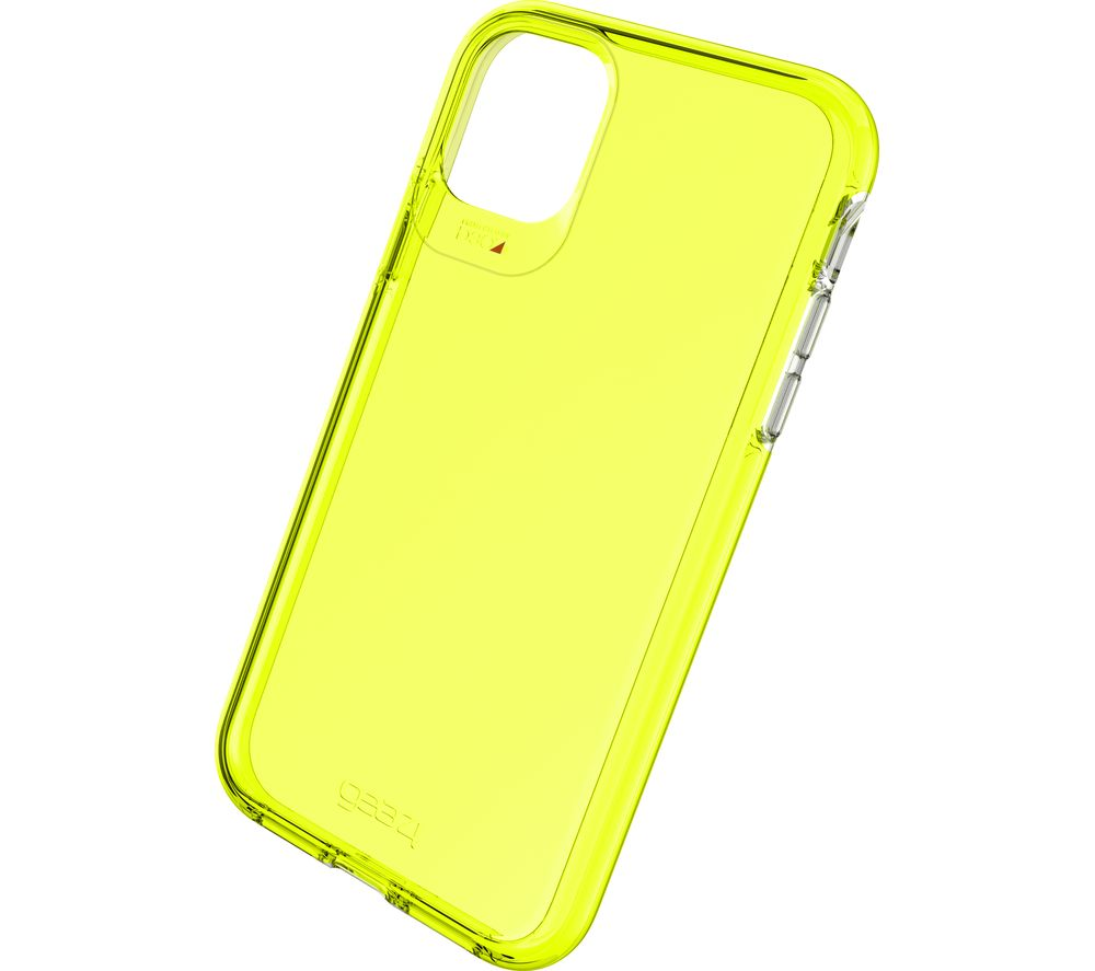 Image of Crystal Palace Neon iPhone 11 Clear View Case - Yellow, Neon