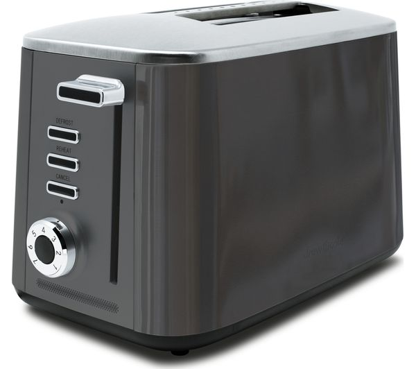 Image of DREW & COLE Rapid 2-Slice Toaster - Charcoal