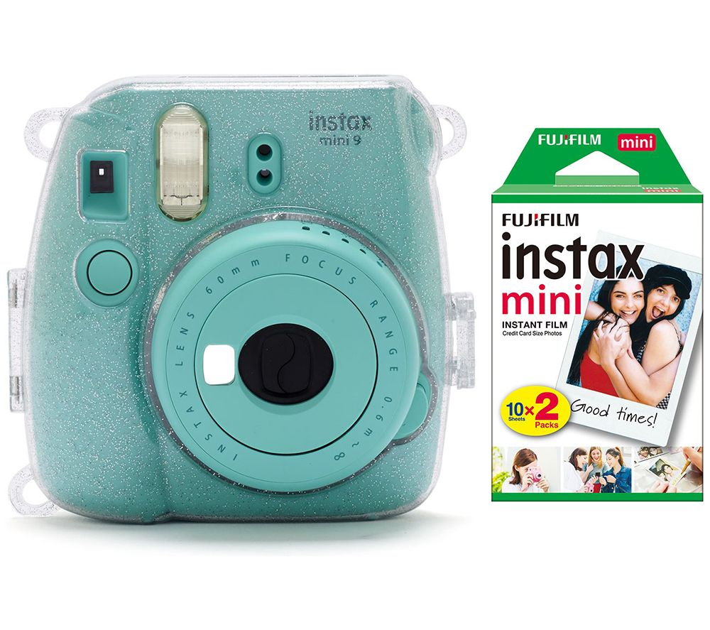 Click to view product details and reviews for Instax Mini 9 Instant Camera Film Case Led Peg Lights Frame Stickers Mini Film Bundle White.