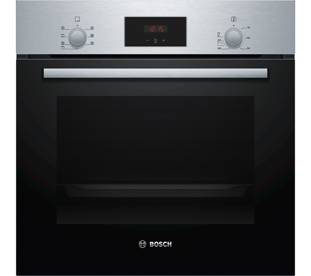 Image of BOSCH Serie 2 HBF113BR0B Electric Oven ? Stainless Steel, Stainless Steel