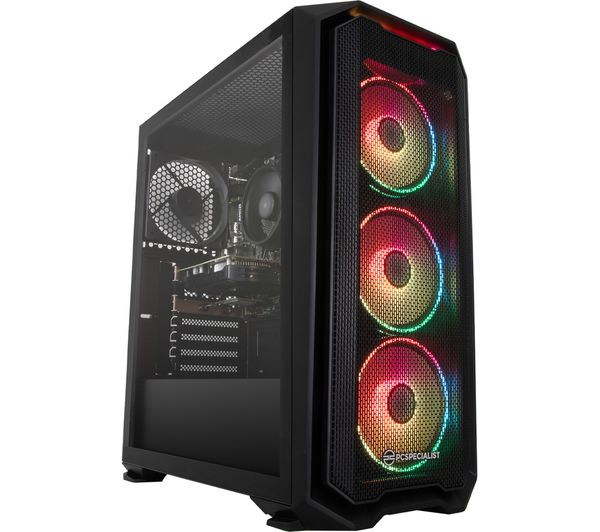 Image of PCSPECIALIST Tornado R3 Gaming PC - AMD Ryzen 3, GTX 1650, 1 TB HDD & 256 GB SSD
