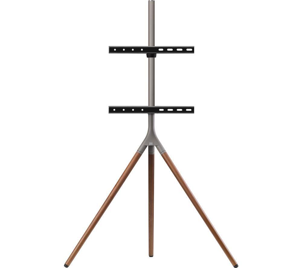 ONE FOR ALL WM 7471 420 mm TV Stand with Bracket - Walnut & Gun Metal Grey