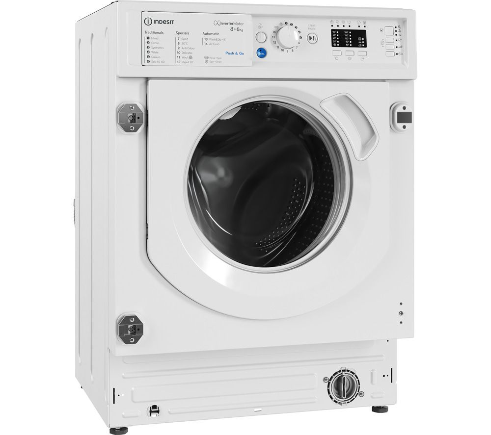 INDESIT BIWDIL861284 Integrated 8 kg Washer Dryer