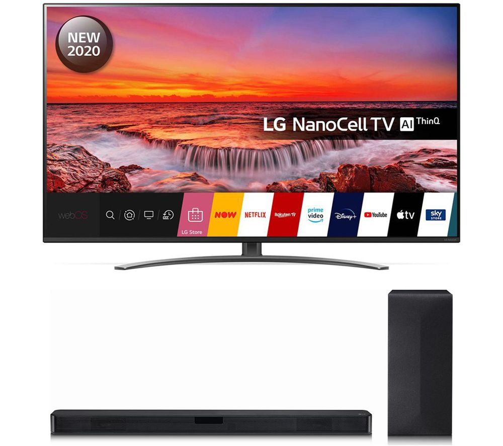 "Image of 55"" LG 55NANO816NA Smart 4K Ultra HD HDR LED TV & SN4 2.1 Wireless Sound Bar Bundle"