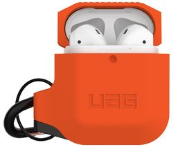 AirPods Case Cover - Orange & Dark Grey