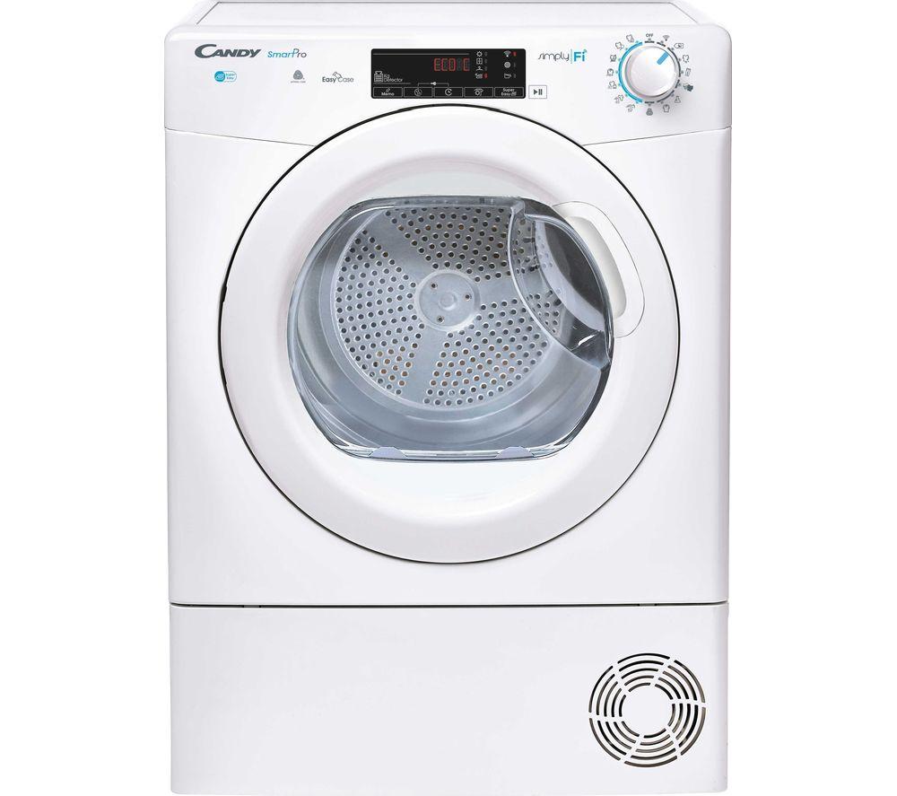 CANDY Smart Pro CSO C9TG WiFi-enabled 9 kg Condenser Tumble Dryer - White, White