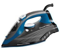 RUSSELL HOBBS 27090 Titanium Carbide Steam Iron - Blue & Grey Best Price, Cheapest Prices