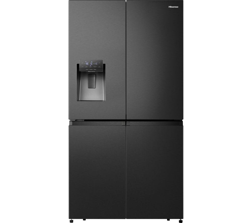 HISENSE PureFlat Eclipse RQ760N4BFF Fridge Freezer - Black Stainless Steel