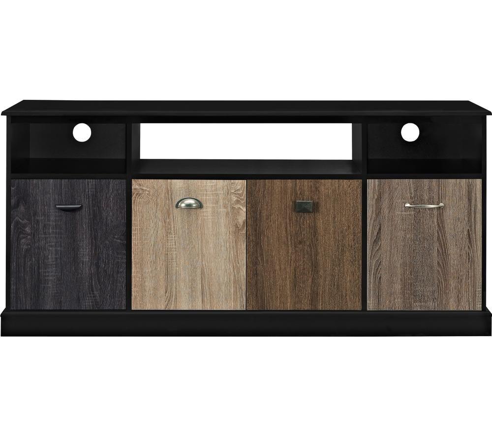 Image of DOREL HOME 1769196PCOMUK Mercer 1524 mm TV Stand - Black, Black