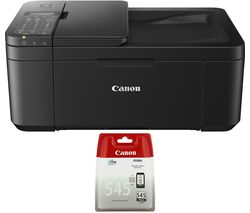 CANON PIXMA TR-4550 All-in-One Wireless Inkjet Printer with Fax & PG-545 Black Ink Cartridge Bundle