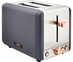 Cavaletto T20036RGG 2-Slice Toaster - Grey & Rose Gold
