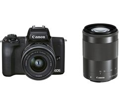 EOS M50 Mark II Mirrorless Camera with EF-M 15-45 mm f/3.5-6.3 IS STM & 55-200 mm f/4.5-6.3 IS STM Lens