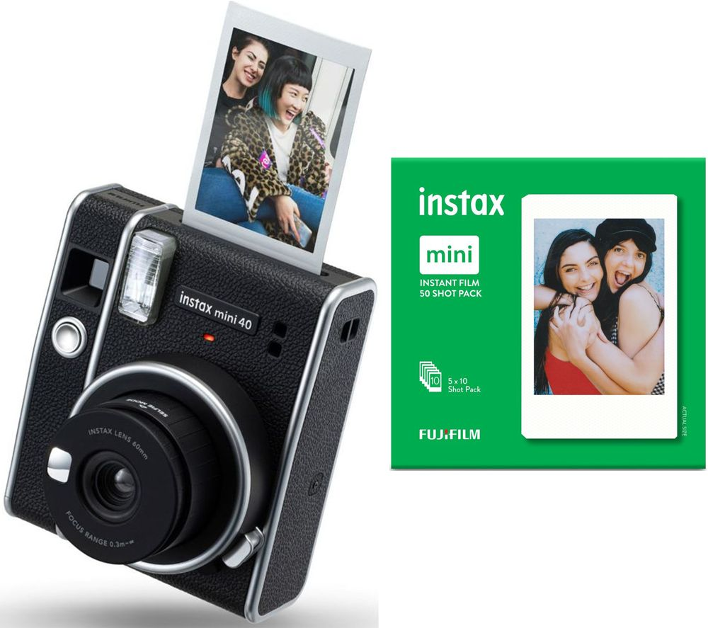 Click to view product details and reviews for Instax Mini 40 Instant Camera 50 Shot Film Pack Bundle Black Black.